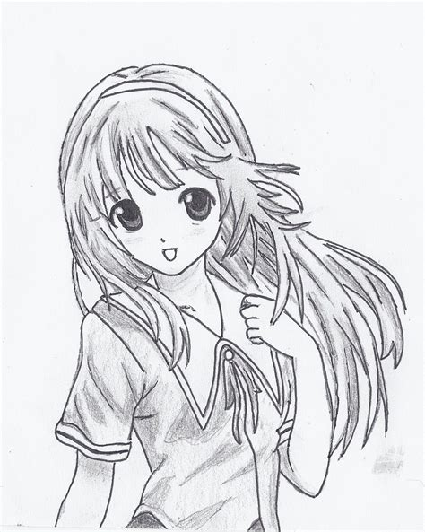 drawn manga cute drawing pencil   color drawn manga
