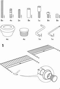 Ikea Leirvik Bed Frame Full Queen King Assembly Instruction