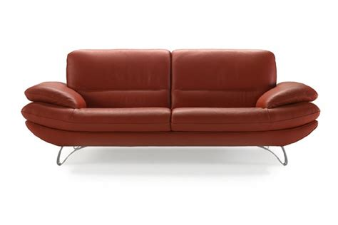 two seater sofa in leather upholstery calia italia