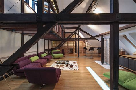interior structure of house wood structure defines contemporary renovated attic loft