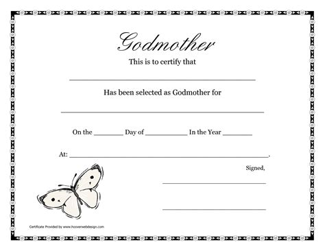Godparent Certificate Template by Free Printable Godparent Certificates Printable