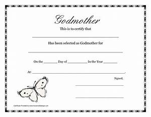 Free printable godparent certificates printable for Godparent certificate template