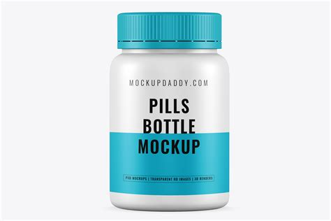 Clear metallized pills bottle mockup in bottle mockups on yellow images object mockups. Small Pills Bottle Psd Mockup Free Download - Mockup Daddy