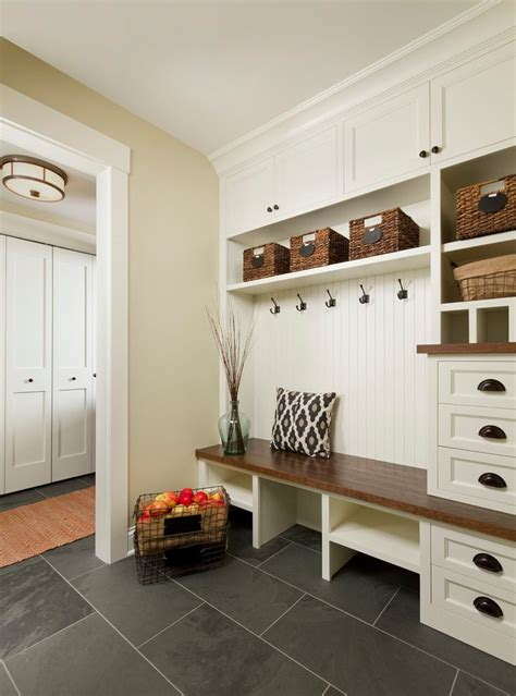 mudroom addition entry traditional     tile