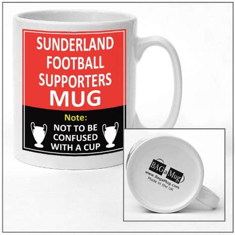Sunderland football club supporters rival team joke funny new and easy office Tea and Coffee Mug
