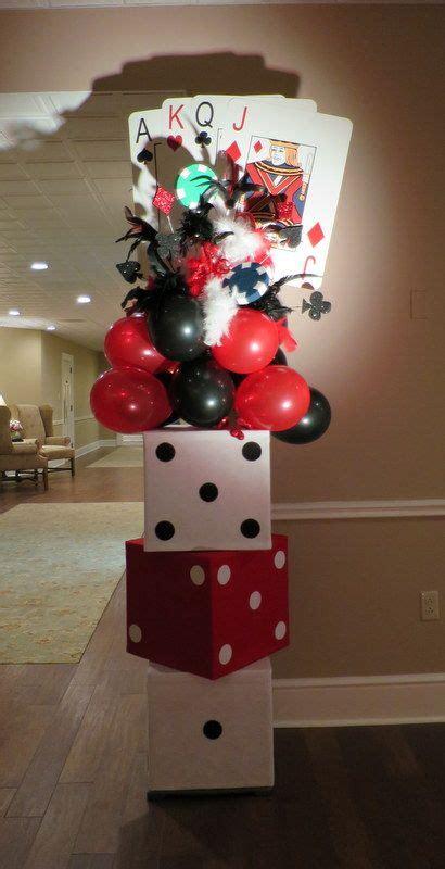 ideas  casino themed centerpieces  pinterest