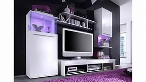 Wohnwand Weiß Günstig : wohnwand in wei front gl nzend mit glaselementen ~ Eleganceandgraceweddings.com Haus und Dekorationen