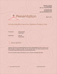 fashion industry sample proposal  steps