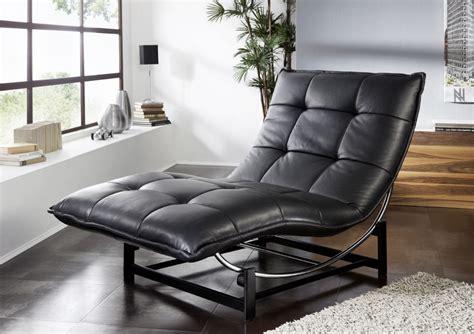 chaise longue cuir chaise longue de relaxation rockme l en cuir
