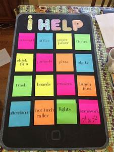 """Classroom jobs poster, the """"ihelp"""". Good for middle school ..."""