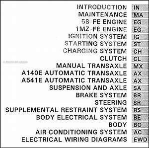 1994 Toyota Camry Repair Shop Manual Original 2 Vol  Set