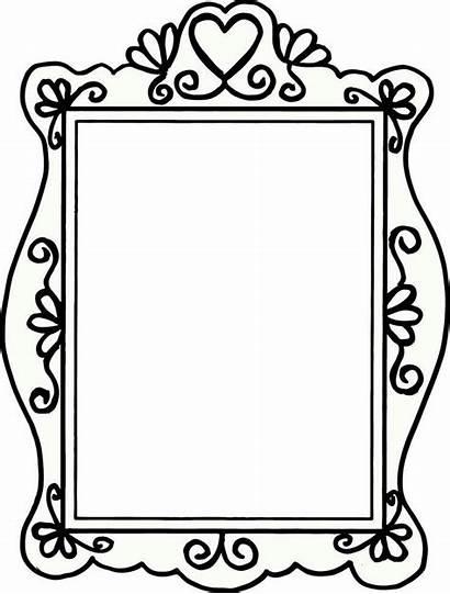 Frame Frames Template Mirror Borders Doodle Clip