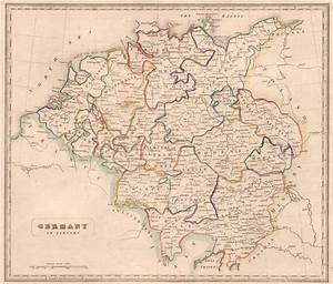 GERMANY IN CIRCLES.Saxony Bavaria Austria Franconia Swabia ...