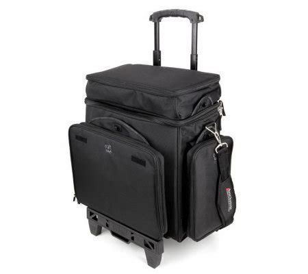 rolling carry  scrapbooking bag watcart qvccom
