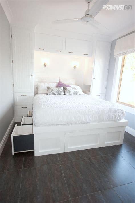 pinterest small bedroom storage ideas built in wardrobes and platform storage bed sawdustgirl 19493