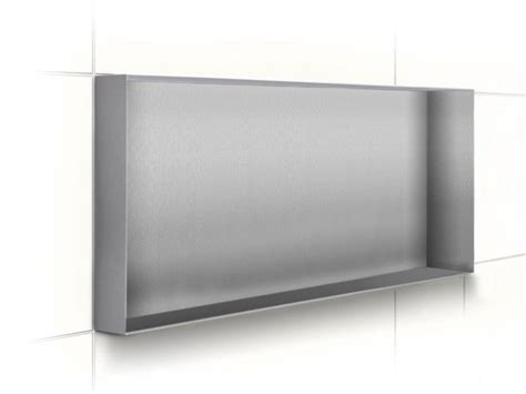 etagere murale acier inoxydable niche murale 233 tag 232 re murale pour salle de bain en acier inoxydable c box stainless steel by