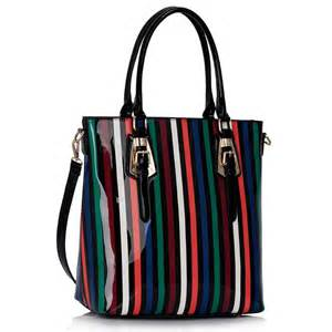 designer wholesale wholesale designer style stripe tote handbag