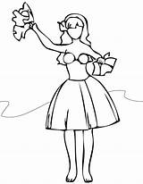 Hula Coloring Dancer Pages Dance Jazz Hawaiian Getcolorings Printable Unparalleled Recital Getdrawings Comments sketch template