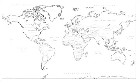 Big World Colouring Map