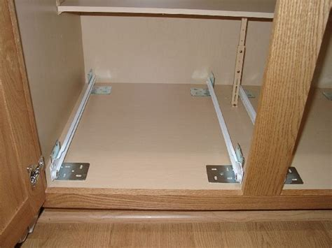 how to install sliding shelves in kitchen cabinets all installation install pull out shelves shelf 9777