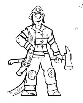 13000 firefighter clipart black and white fireman clipart by kindergartenmd teachers pay teachers