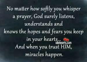 God and Miracles Prayer