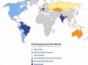 Electronic Voting and Counting Around the World | National ...