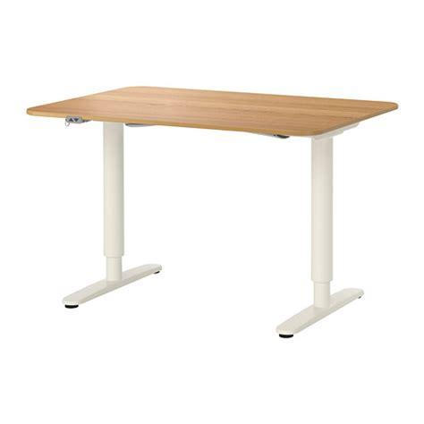 bekant desk sit stand oak veneer white 120x80 cm ikea