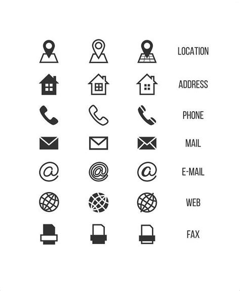 business card icons designs templates