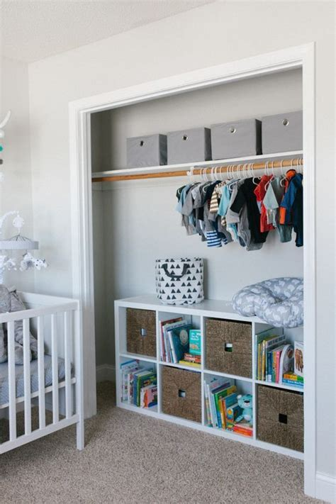 open closet  cubbies  drawers  toy storage
