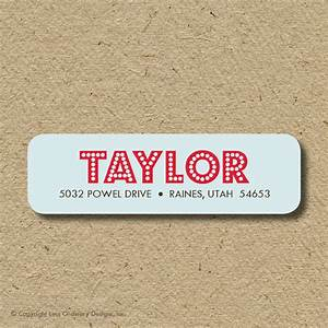 Custom return address labels self adhesive modern lights for Adhesive return address labels