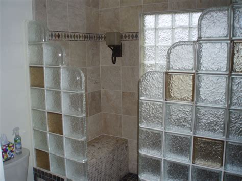 glass block shower designs glass block windows shower wall pictures images photo