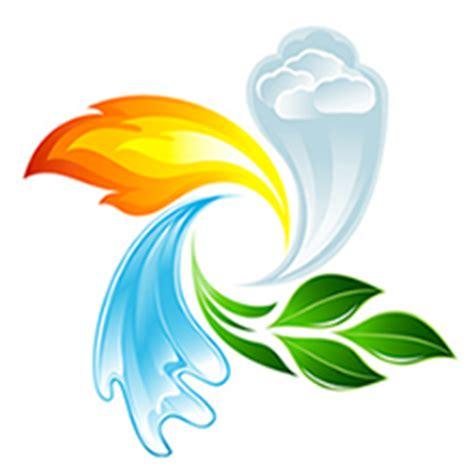 Les 4 éléments  Le Feu, La Terre, L'air Et L'eau Divimag