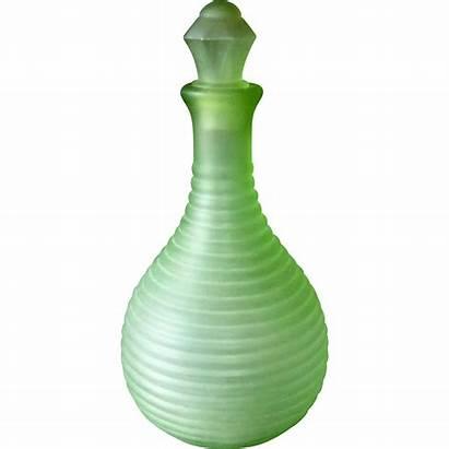 Glass Frigidaire Water Bottle Depression Ribbed Satin