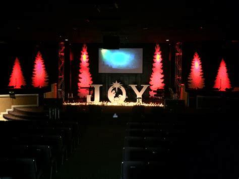 coro trees church stage design ideas