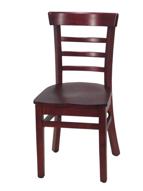 mahogany ladder back wood chair small wc277m