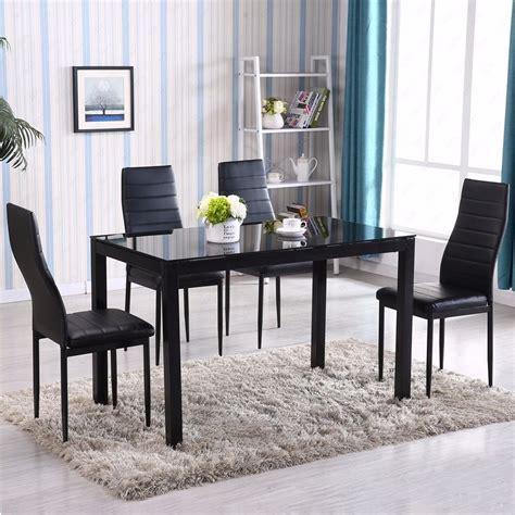 gracelove  piece glass metal kitchen dining table set