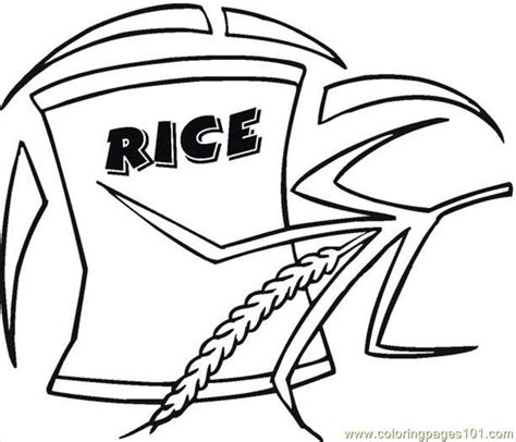 coloring pages rice  food fruits breakfast