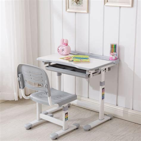 Childerns Desk by Grey Adjustable Children S Desk And Chair Set Child