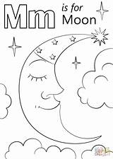 Coloring Letter Moon Pages Worksheets Printable Alphabet Preschoolers Crescent Preschool Drawing Crafts Letters Activities Supercoloring Colouring Worksheet Sheets Toddlers Books sketch template