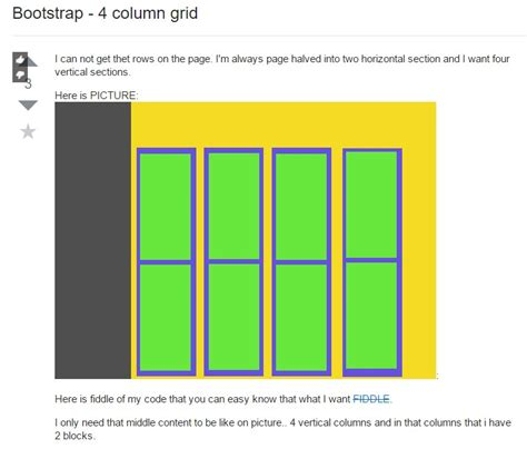 bootstrap grid template