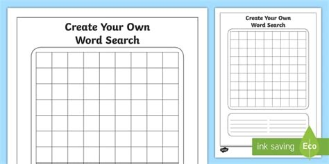 blank word search blank word search worksheet activity sheet spelling