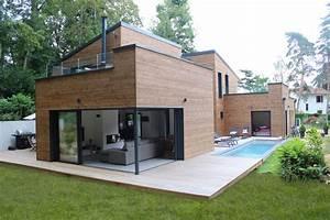 Extension Maison Préfabriquée : maison en kit beton agr able garage toit plat beton 5 chalet bois en kit piscine kit facile ~ Melissatoandfro.com Idées de Décoration