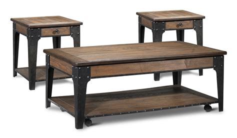 what is a two top table lakehurst lift top coffee table and two end tables aged