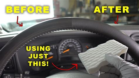 Restore Your Old Shiny Leather Steering Wheel Like New