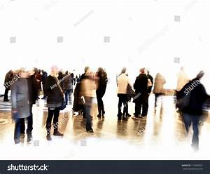 Crowd Blurred People Exhibition Museum Stock Photo ...