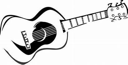 Guitar Acoustic Drawing Line Clipart Drawings Clip