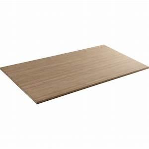 Plateau Pour Table : plateau de table bois massif x cm mm leroy merlin ~ Teatrodelosmanantiales.com Idées de Décoration
