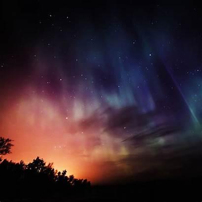 Rainbow Sky Night Stars Aurora Wonderful Wallpapers