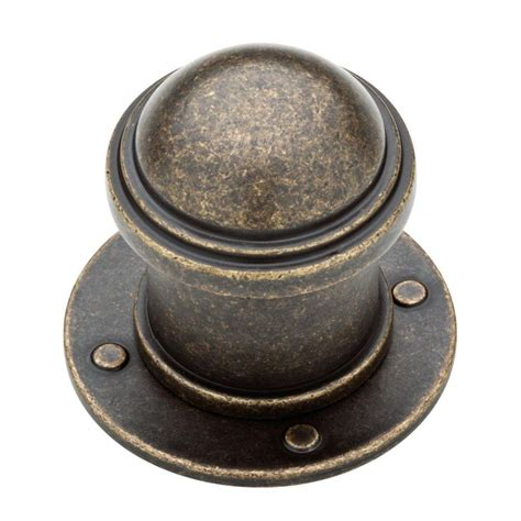 brass kitchen knobs liberty 1 1 2 in burnished antique brass industrial